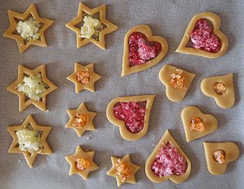 Διακοσμητικά Χριστουγεννιάτικα μπισκότα - γέμισμα