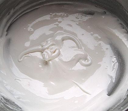 Γλάσο άσπρο για διακόσμηση