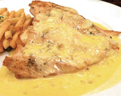Κοτόπουλο φιλέτο με κρέμα