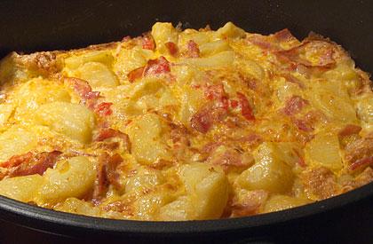 Ομελέτα με μπέικον και πατάτες