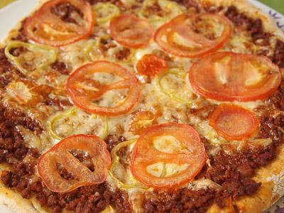 Πίτσα κιμά ψημένη