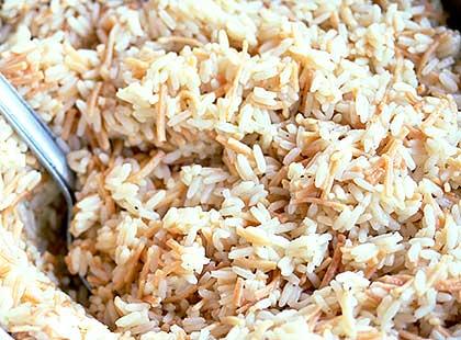 Ρύζι πιλάφι με φιδέ