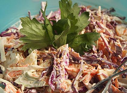 Σαλάτα λάχανο με γιαούρτι