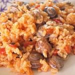 Χοχλιοί (σαλιγκάρια) με ρύζι