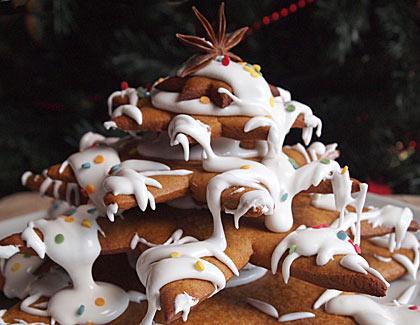 Χριστουγεννιάτικο δέντρο από μπισκότο