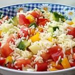 Δροσερή σαλάτα ρυζιού