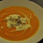Συνταγή από Jenny για Σούπα με κολοκύθα και yams, blue cheese και ηλιόσπορους / ...