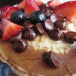 Συνταγή από Jenny για Pancakes with berries and chocolate drops