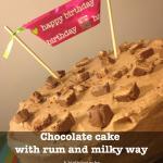 Συνταγή Από Jenny Για Τούρτα Με Μους Σοκολάτας, Ρούμι Και Κομματάκια Milky Way /...