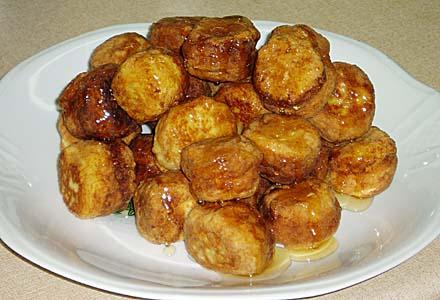κροκέτες ανθότυρου με μέλι