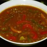 Φακές σούπα με πιπεριές