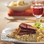 Φιλέτο ζαρκαδιού και ριζότο με μανιτάρια