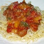 Συνταγή : Μακαρόνια με πιπεριές, μανιτάρια