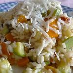 Ριζότο με λαχανικά, λιαστή ντομάτα