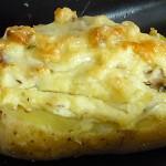 Πατάτες γεμιστές με μανιτάρια, μπέικον