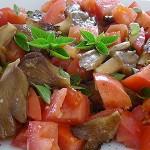 Συνταγή: Μανιτάρια πλευρώτους με ντομάτα, βασιλικό - manitaria ntomata