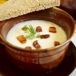 Σούπα με ρεβίθια και μπέικον