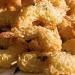 Γαρίδες τηγανιτές με κρούστα τυριού