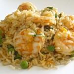 Ρύζι με γαρίδες και τζίντζερ