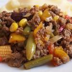 Κιμάς με μεξικάνικα λαχανικά