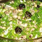 Σαλάτα με μαυρομάτικα φασόλια, κάππαρη
