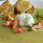 Σούπα με λαχανικά και κατίκι