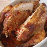 Κοτόπουλο γεμιστό με ρύζι