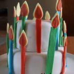 Τούρτα γενεθλίων με ζαχαρόπαστα