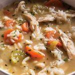 Κοτόσουπα με λαχανικά και ρύζι