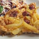 Ομελέτα με πατάτες και λουκάνικο