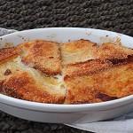Πουτίγκα ψωμιού με μαρμελάδα
