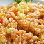Ρύζι μεξικάνικο με καλαμπόκι