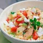 Σαλάτα ζυμαρικών με γαρίδες
