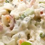 Σαλάτα ζυμαρικών με άσπρη σως