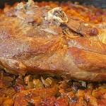 Χοιρινό ψητό με φασόλια