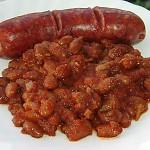 Φασόλια μπαρμπούνια με πικάντικη σάλτσα