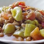 Φασόλια μαυρομάτικα με λαχανικά