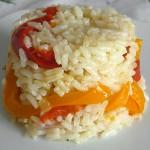 Ρύζι με χρωματιστές πιπεριές