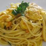 Σπαγγέτι με γαρίδες, κάρι