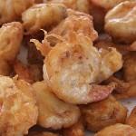 Γαρίδες τηγανητές με χυλό