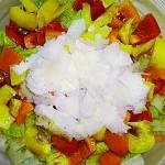 Σαλάτα με πιπεριά, παρμεζάνα
