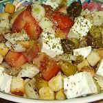 Σαλάτα με ντομάτα, κρουτόν