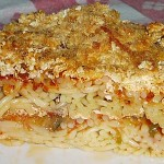 Μακαρόνια φούρνου με λαχανικά