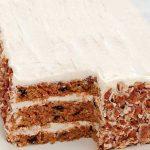 Τούρτα με κέικ καρότου